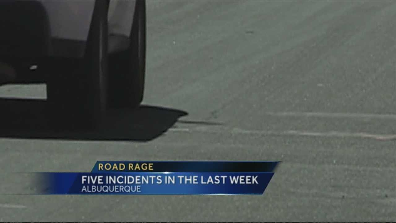 There have been five road rage incidents in Albuquerque in the past week, according to police, and three of them involved a weapon.