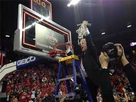 See how the New Mexico Lobos won their third straight Mountain West Tournament crown.