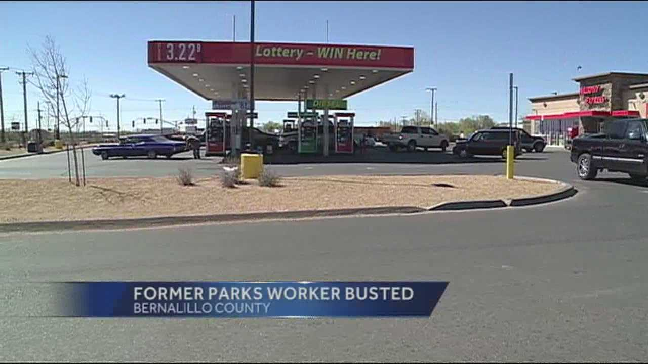 A former Bernalillo County worker is under arrest, accused of stealing a county vehicle and money from the county.