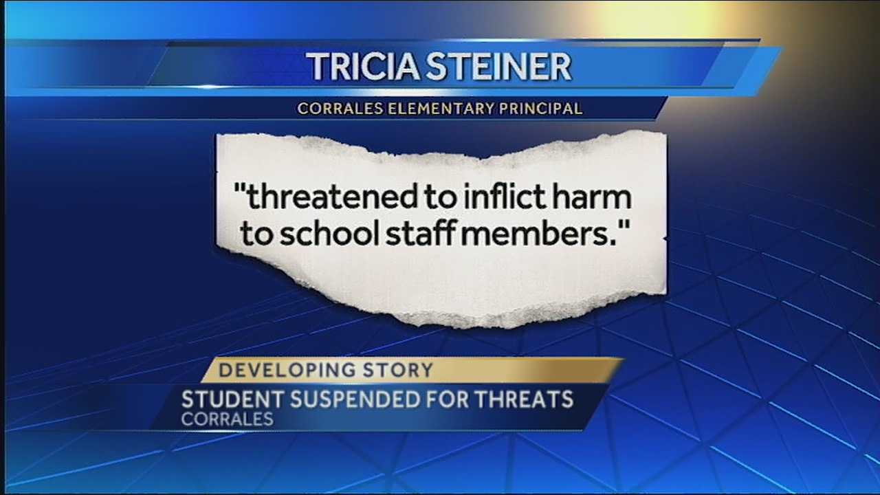 APS: Student, 6, suspended for threatening staff