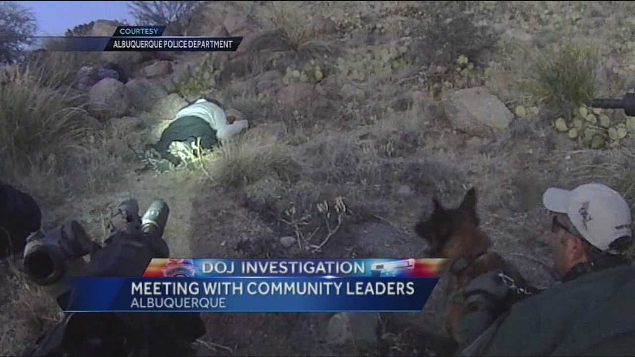 The U.S. Justice Department is sending the names of the two Albuquerque police officers involved in the fatal shooting of a homeless man in the foothills to its criminal division.