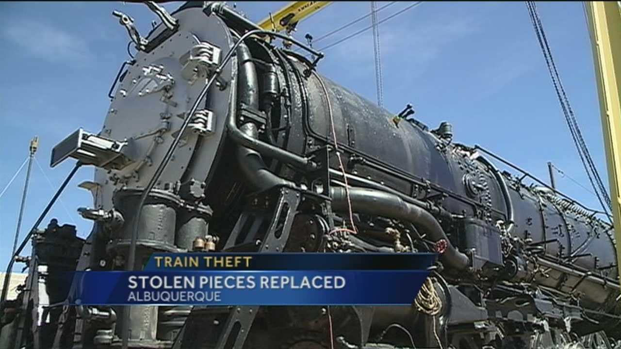 A GROUP IS BACK ON TRACK AFTER THIEVES DERAILED A PROJECT TO RESTORE A 1940s STEAM ENGINE.