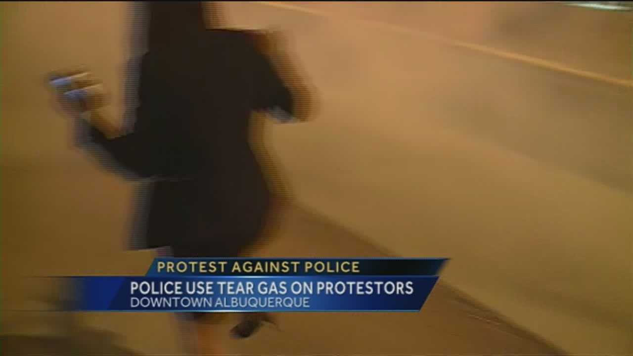 Hundreds marched for more than nine hours in protest of the Albuquerque Police Department's use of force.