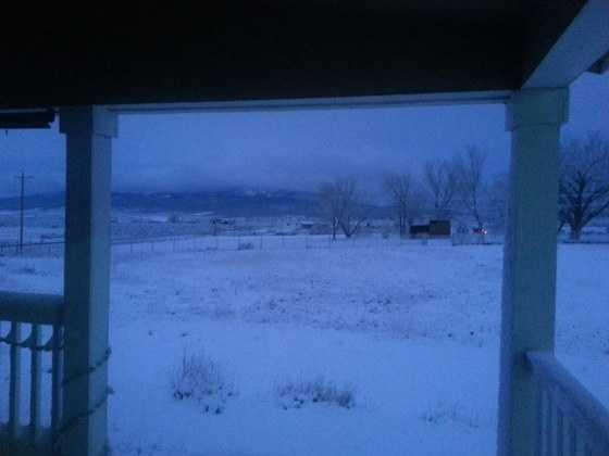 u local photos shared their photos of April snow.