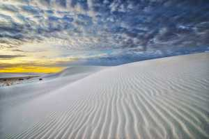 """""""White Sands Clouds at Dawn"""" Gorgeous clouds at sunrise in White Sands National Park."""