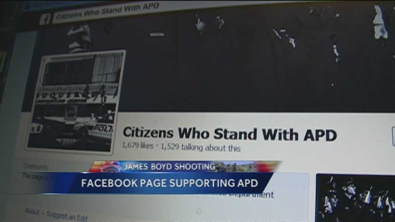 Supporters of APD are turning to Facebook to help spread the message of support.