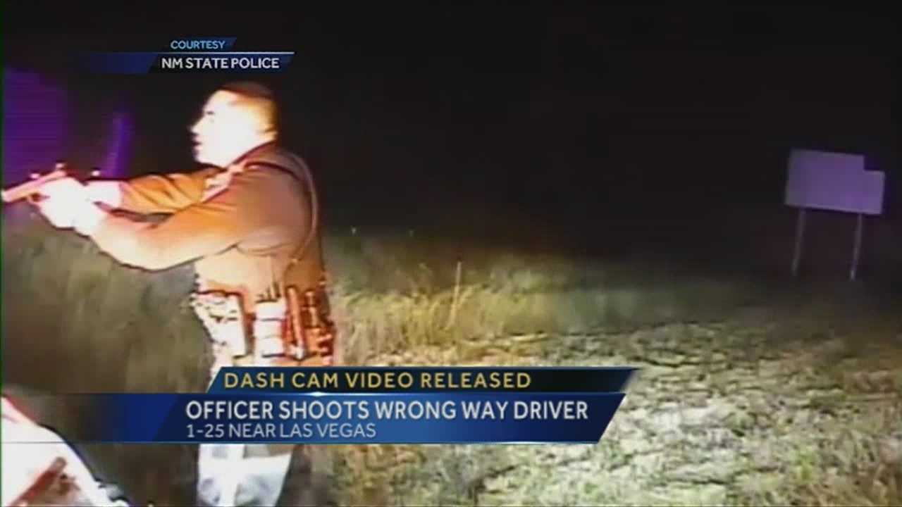 NMSP release video of driver who went wrong way, got shot by police