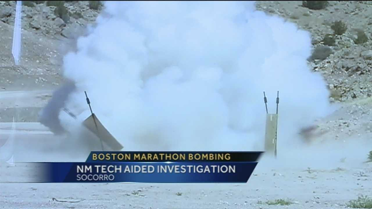 NM Tech aided with Boston Marathon investigation