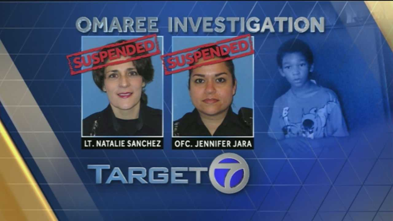 Albuquerque police officer Jennifer Jara and Lt. Natalie Sanchez have been suspended because of the way they handled a 2012 incident involving Omaree Varela, Target 7 has learned.