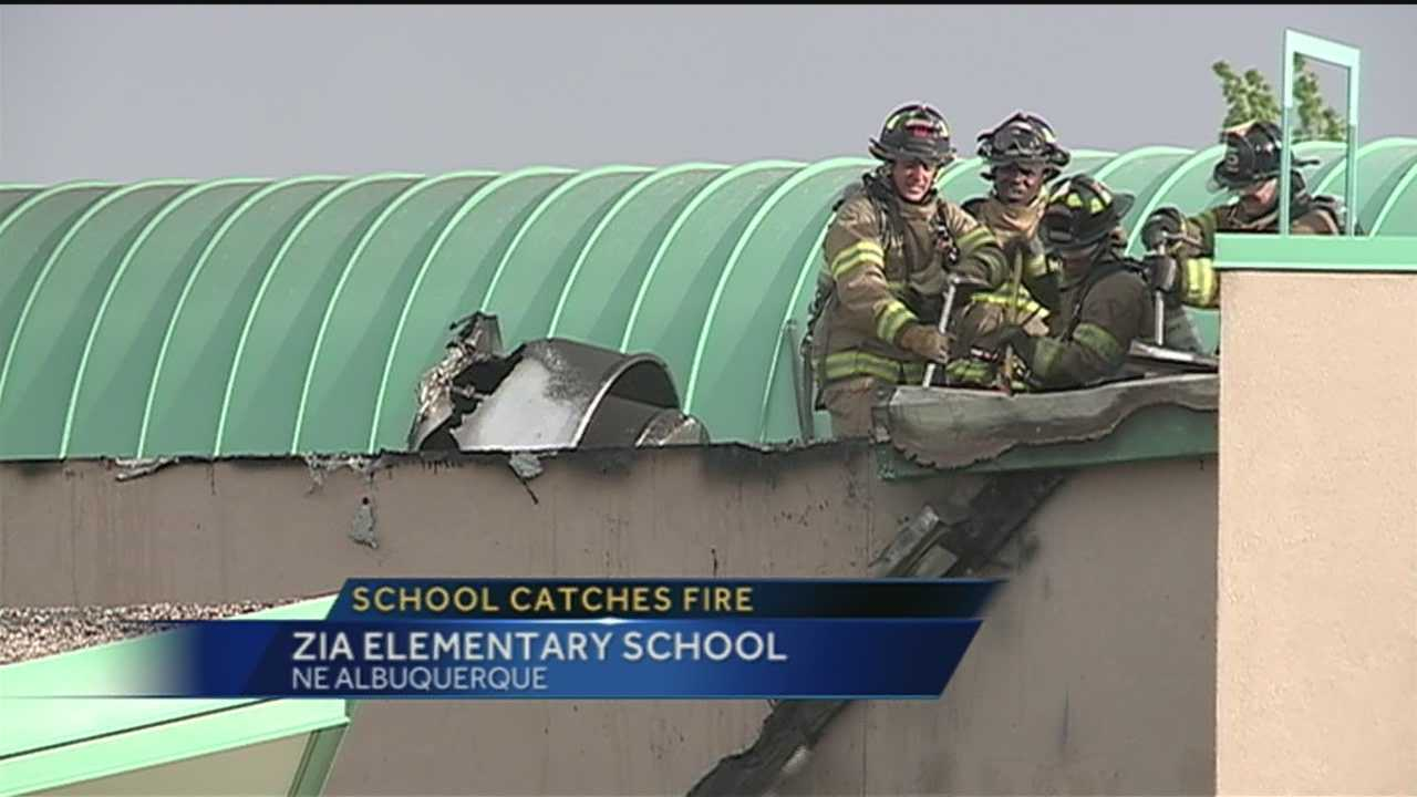 Zia Elementary officials eye fire damage