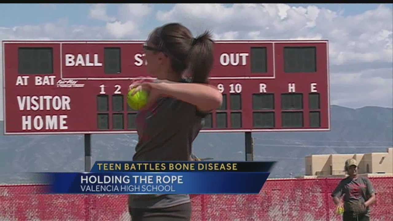 Broken bones and multiple trips to the hospital aren't stopping this Valencia High athlete  from playing the game she loves.