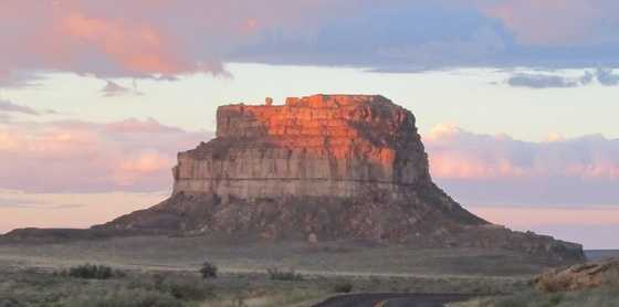 """The Fajada Butte is home to a dagger of light that bisects a carved spiral in rock. Anna Sofaer, in her book """"Chaco Astronomy,"""" said it was formed by an opening of three rock slabs in front of the spiral."""