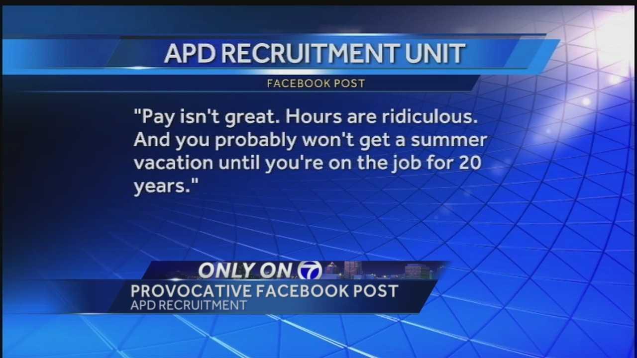 Albuquerque police recruitment post raises eyebrows