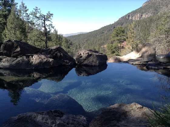 """Hot SpringsTen Thousand Waves, Ojo Caliente Mineral Springs, Jemez Springs[Pictured: Jemez's """"Spence"""" Springs]"""