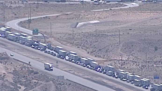 I-40 traffic after crash