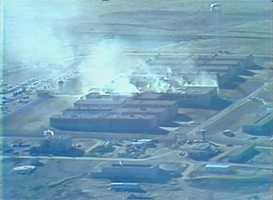 During the riot, a fire sparked in the prison.