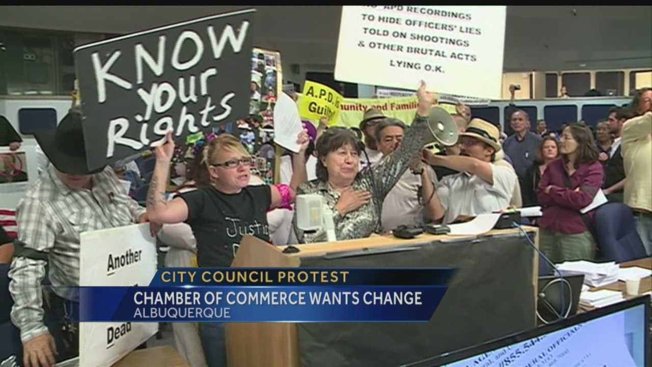 Protest sparks concerns about council security