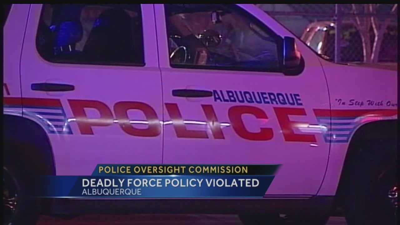 Police Oversight Commission: Deadly force policy violated