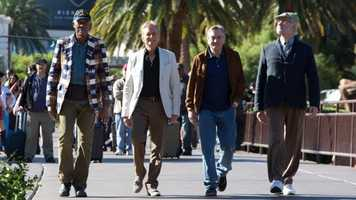 "In 2013, Douglas joined Morgan Freeman and Robert De Niro in ""Last Vegas."""