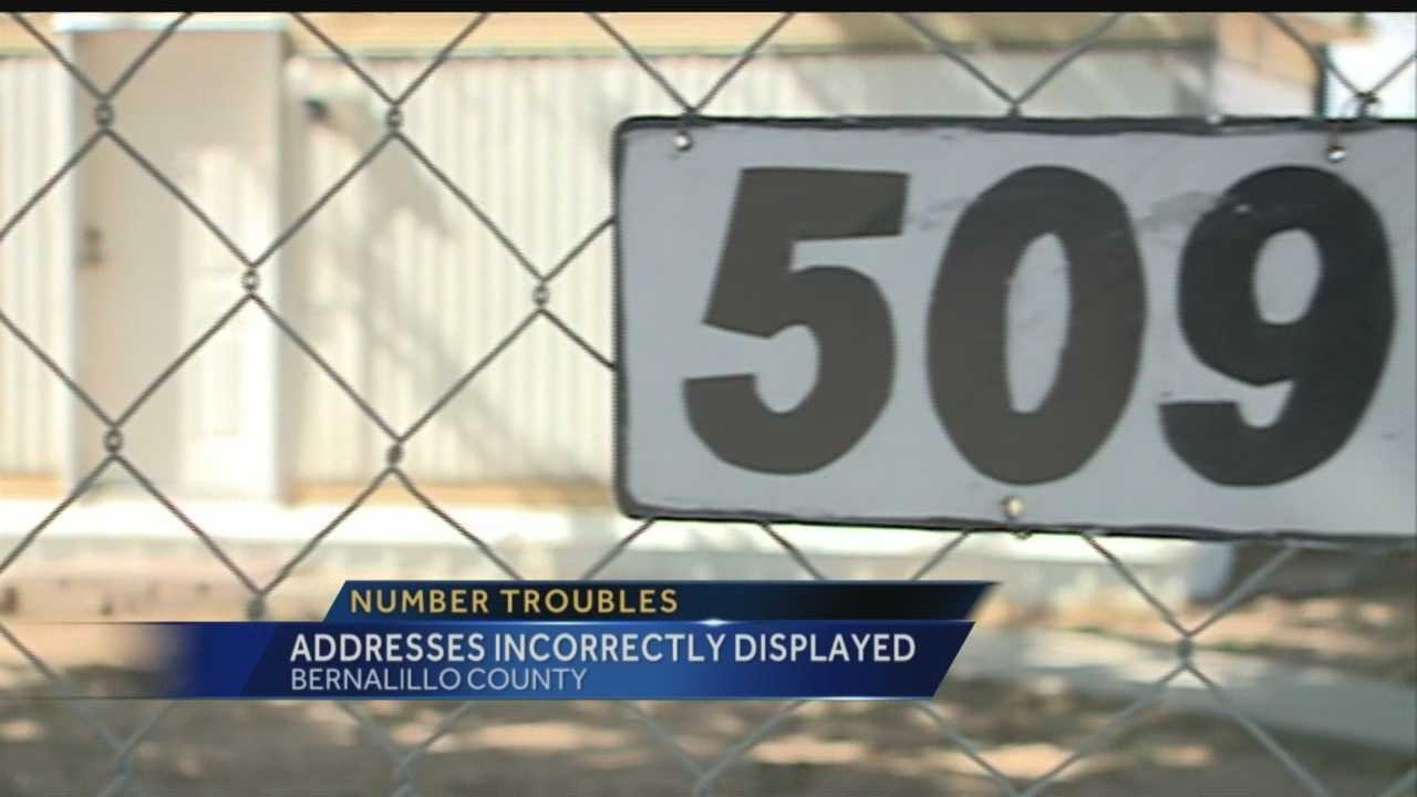 Right now, many in Bernallilo County are missing house numbers from the mailbox or front door.