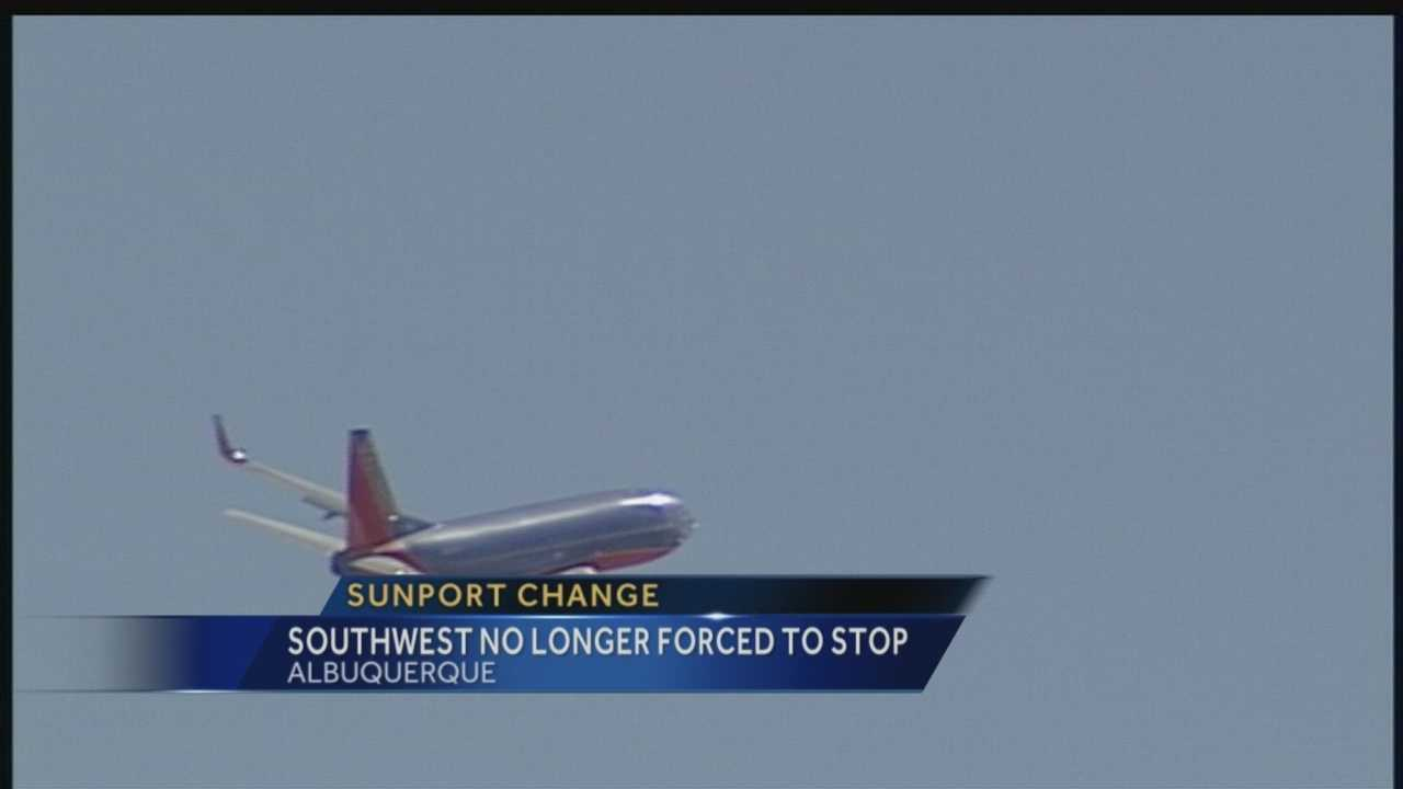 CHANGES ARE COMING TO THE SUNPORT&#x3B;     AND ITS LARGEST AIRLINE, SOUTHWEST.THIS FALL, SOUTHWEST WILL NO LONGER HAVE TO MAKE STOPS IN ALBUQUERQUE ON ITS WAY TO OTHER PLACES... AND THE CITY IS BRACING FOR IMPACT.