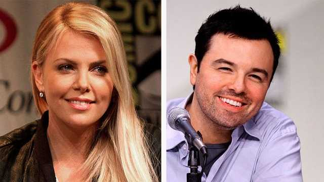 Charlize Theron and Seth MacFarlane (Photos by Gage Skidmore)
