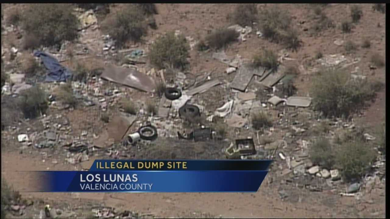 Boats, couches, tires and tons of trash all dumped on the side of the road in Valencia County -- and the county just found out it owns the property that's become a massive illegal dump site.