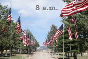 8 a.m.Roswell, Gravesite Flag Placement, South park CemeteryLas Cruces, Raising of Garrison Flag, Veterans Memorial Park