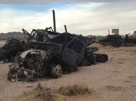 See photos from a Thursday crash in southern New Mexico where six people were killed.