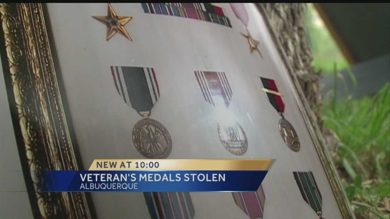 A MAN WHO WAS ONCE A PRISONER OF WAR, WAS RECOVERING FROM HIP SURGERY AT THE V-A HOSPITAL.   THAT'S WHEN A FRIEND SAYS BURGLARS STOLE HIS WAR MEDALS, AND A WHOLE LOT MORE.