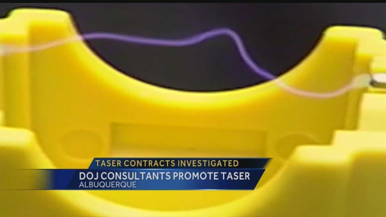 DOJ consultants promote Taser