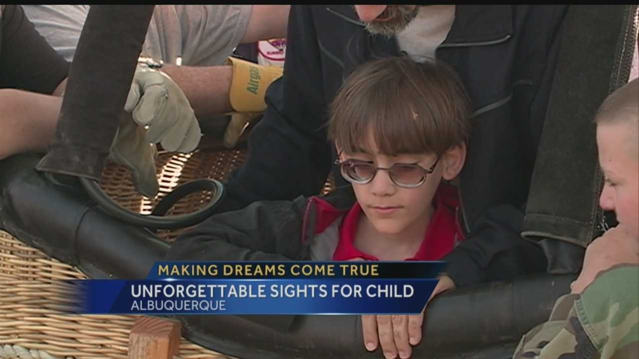A hot air balloon ride in Albuquerque was a dream come true for this courageous nine-year-old going blind.