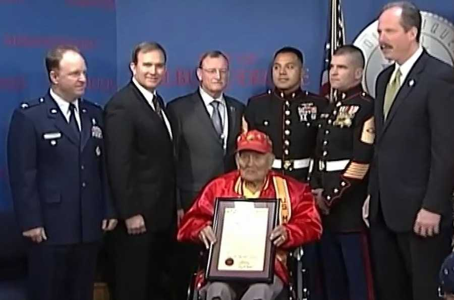 """Albuquerque Mayor Richard Berry declared Jan. 23, 2012 """"Chester Nez Day,"""" which also happens to be the Code Talker's birthday."""