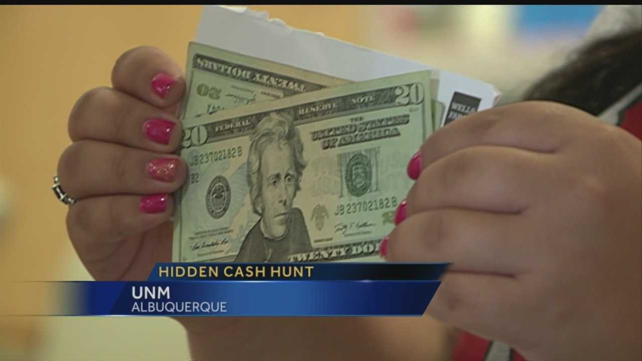 A man started his mission Wednesday to leave thousands in cash lying around Albuquerque over the next month and a-half.