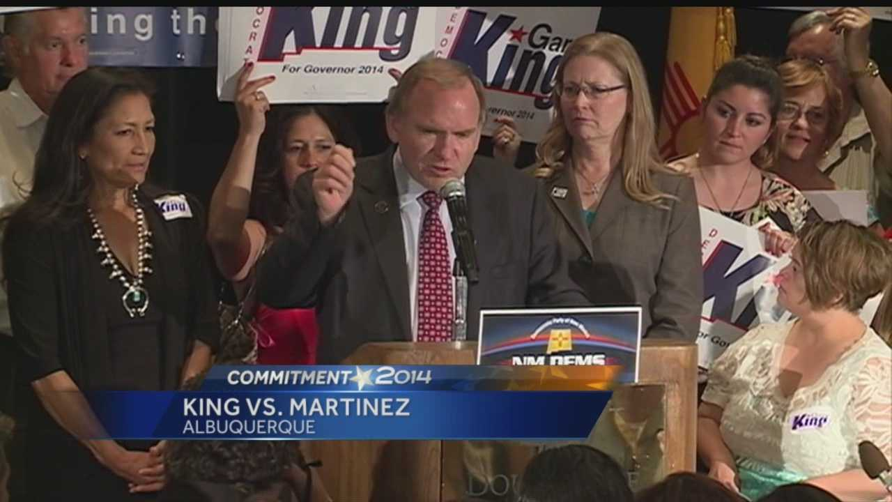 Gary King to face off against Gov. Susana Martinez this fall.
