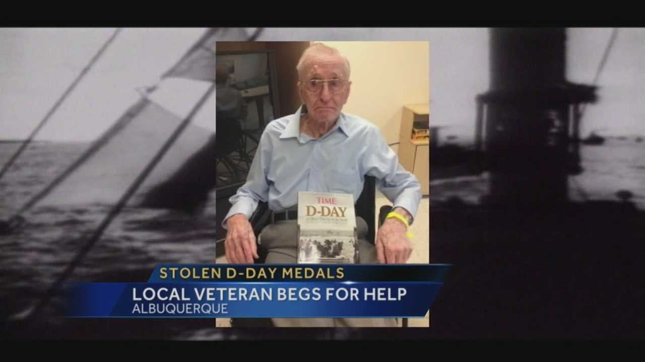 Someone broke into a local WW two vet's home and stole his medals of honor.