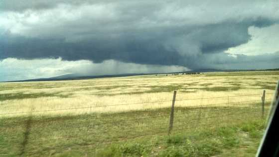 Stormy conditions in Harding County Sunday afternoon.
