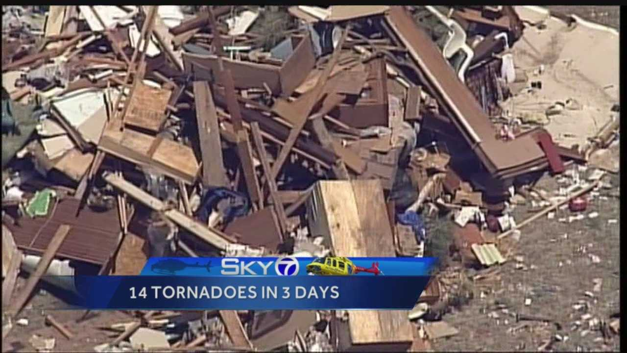 The two vacation homes destroyed over the weekend were decimated by an EF-1 tornado.