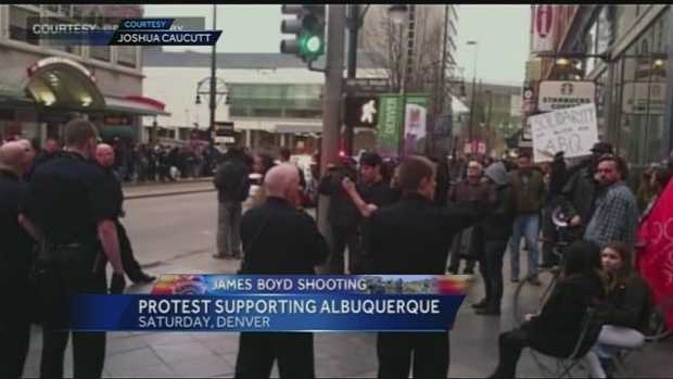 April 5, Denver protest targets Albuquerque police following Boyd shooting