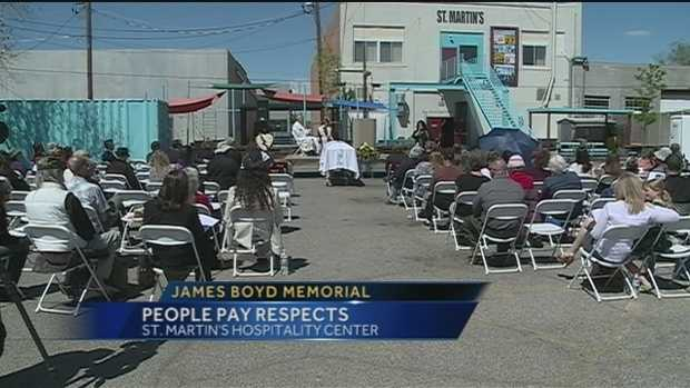 April 14, Memorial service held for Boyd at St. Martin's Hospitality Center
