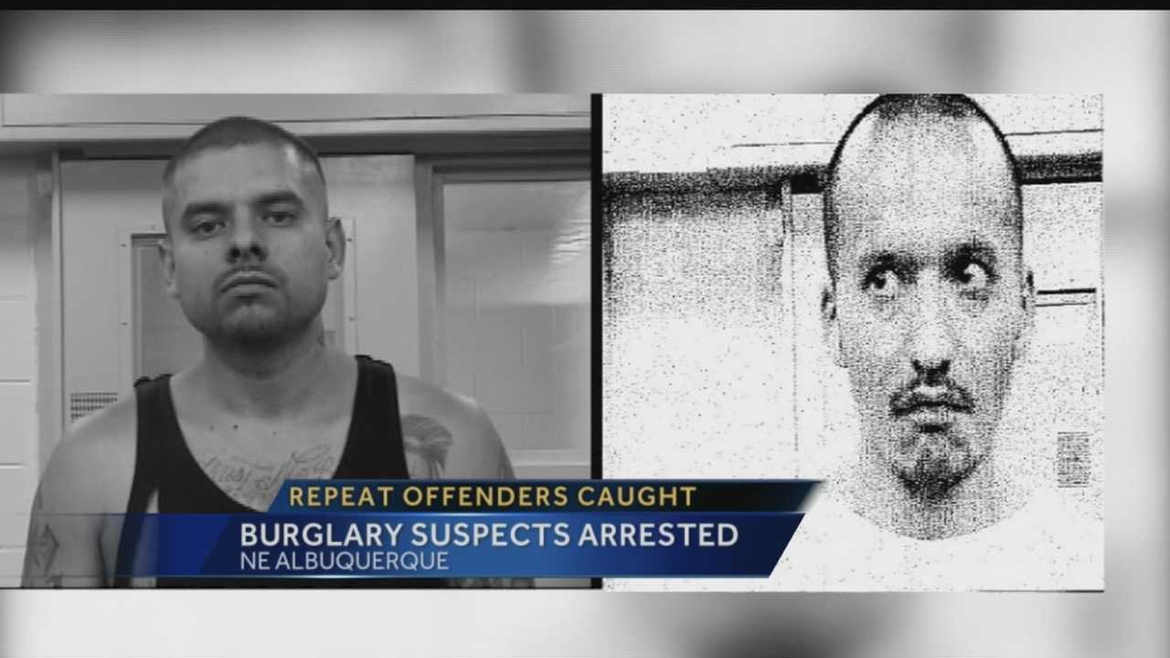 Police say a group of men was spotted breaking into a relative's home by an off-duty Bernalillo County Sheriff's Office deputy Saturday.