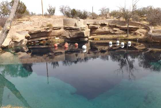 22.       Take a dip in the Blue Hole in Santa Rosa