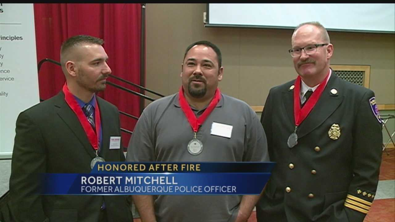 Honored after fire: More than 1 dozen lives saved