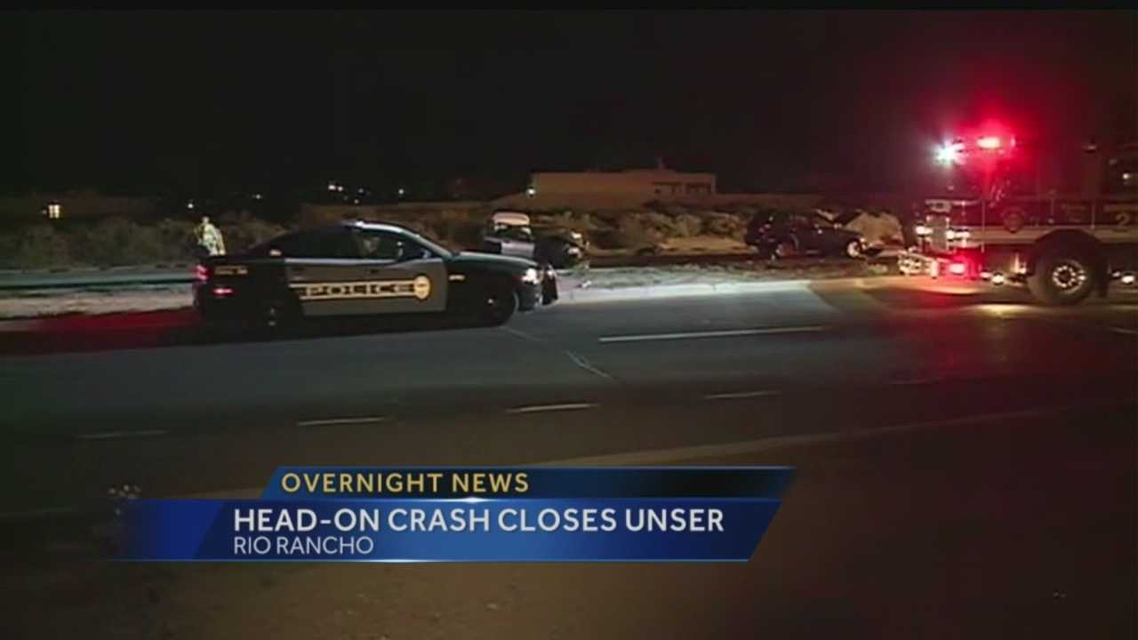 A head on crash in Rio Rancho sent two to the hospital, one was airlifted.