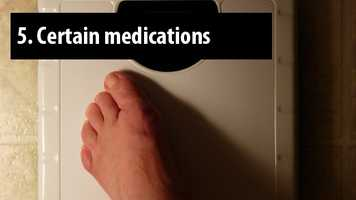 Weight gain is a common side effect of certain diabetes and mental health drugs.