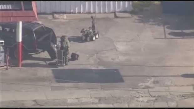 A file image of a bomb squad robot