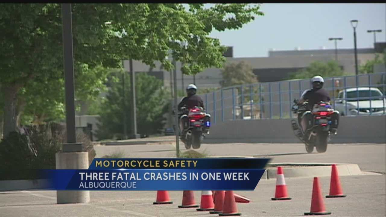 After three motorcycle fatalities in one week, Albuquerque police are urging drivers to be more aware.