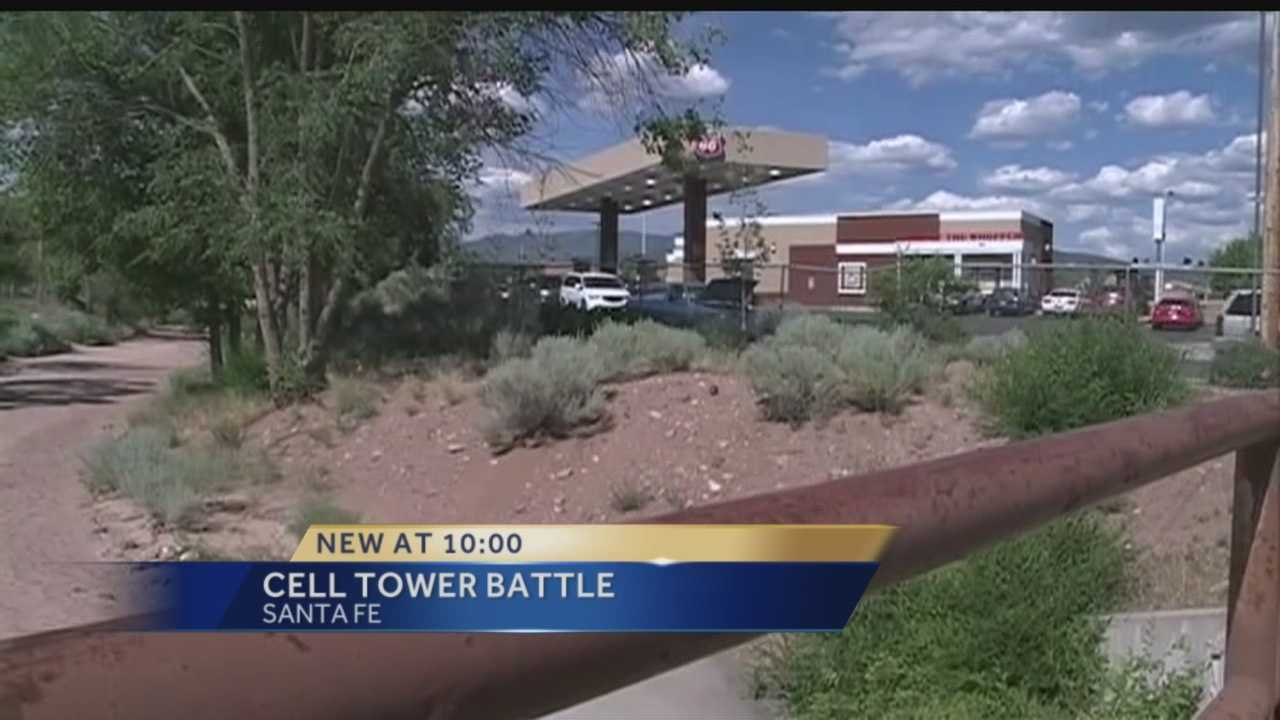 AT&T wants to build a cell tower in Santa Fe, but residents are saying no way.