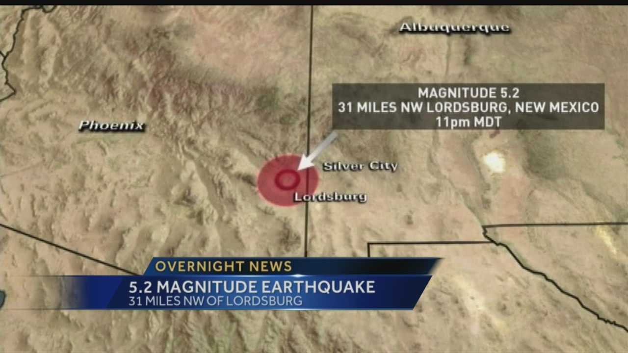 A 5.2 magnitude earthquake rattled homes in Southwest New Mexico.
