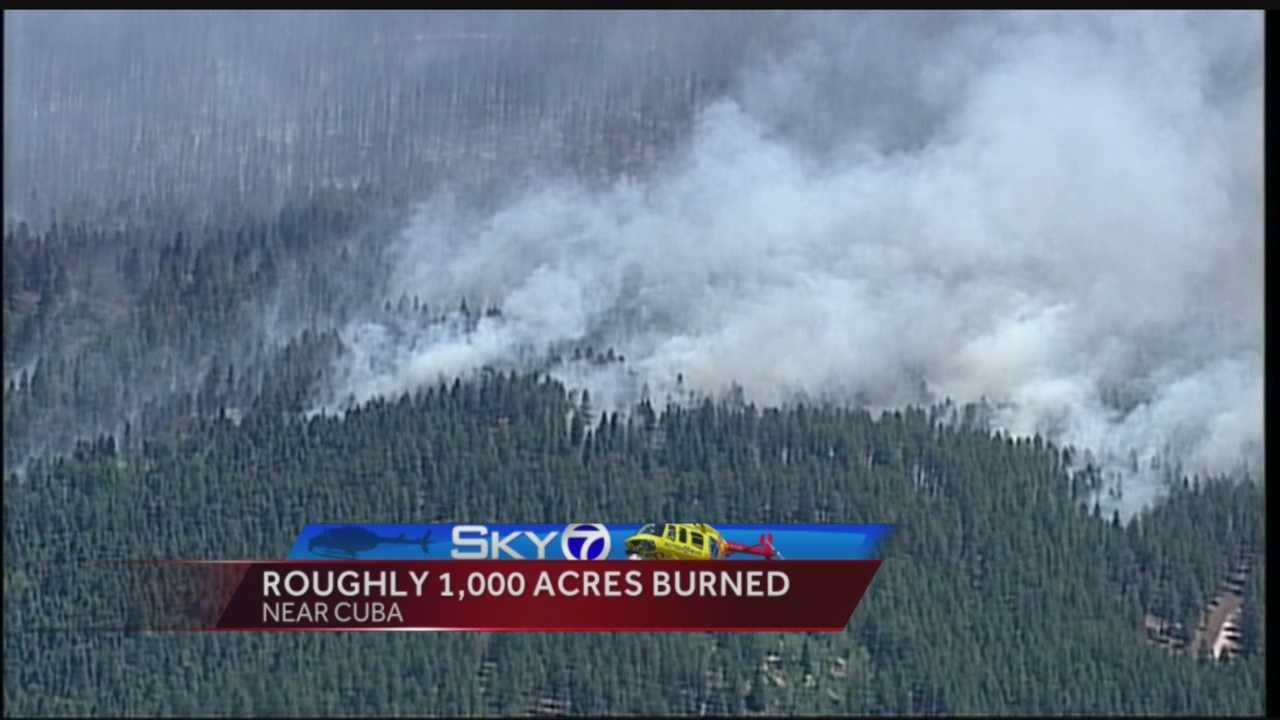 Roughly 1,000 acres burned